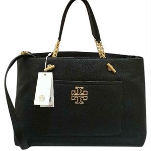 NWT Tory Burch Britten Satchel Two Way Handbag